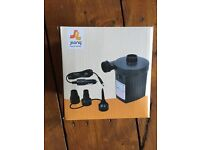 Jilong AC electric air pump with car adaptor, camping, air bed, festival, garden, inflatables, BNIB
