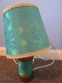 Peacock blue lamp
