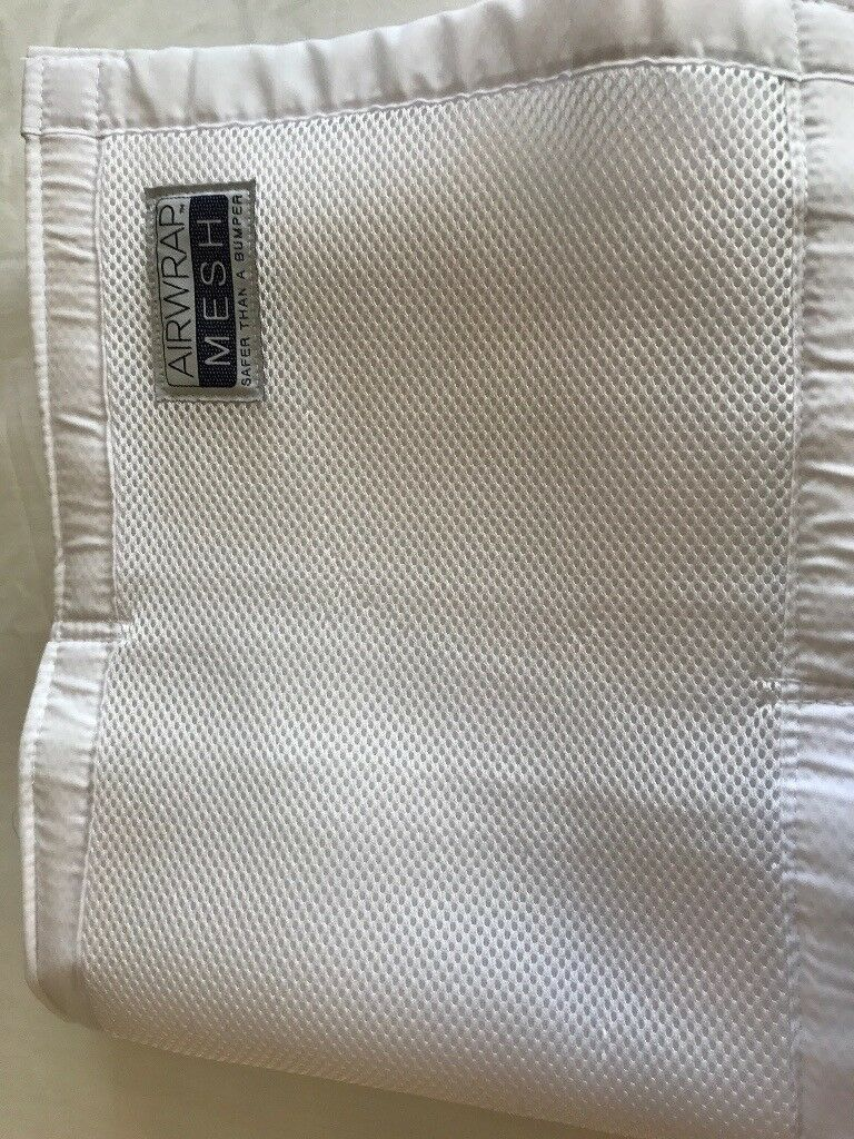Airmesh Cot bumpers in white