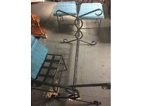Metal base Glass table and Chairs