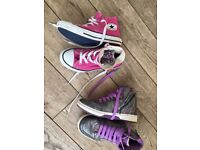 Girls Converse & Geox sneakers, vgc