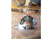 Mirrored glass ceiling light . This contemporary light is brand new.