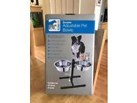 Double Adjustable Pet Bowls