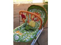 Tess Toys - Mothercare My Jungle Family Bouncer in Unisex Colours in excellent condition.