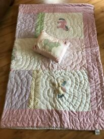 Laura Ashley Bed throw/quilt and cushion