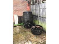 Oak cask barrel