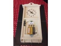 Shabby chic style wall clock / kitchen clock