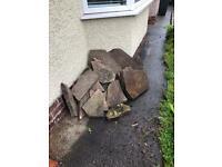 Garden Slabs stones pathing rocks