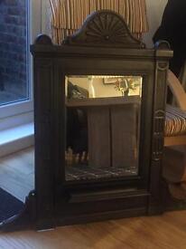 Rare vintage cast iron mirror
