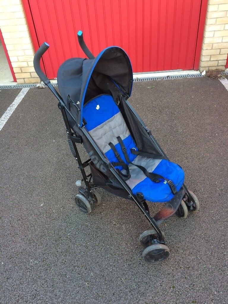 JOIE BLUE NITRO STROLLER//BUGGY With Raincover.