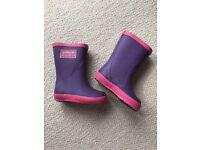 JoJo Maman Bebe Splash Wellies - Purple: Kids Size 4 (UK)