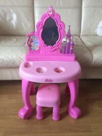 Disney Princess Vanity table and stool