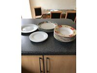 PLATES AND FEW DISHES FREE TO COLLECTOR