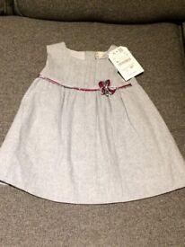 New baby Zara dress 6-9 months, 100% cotton