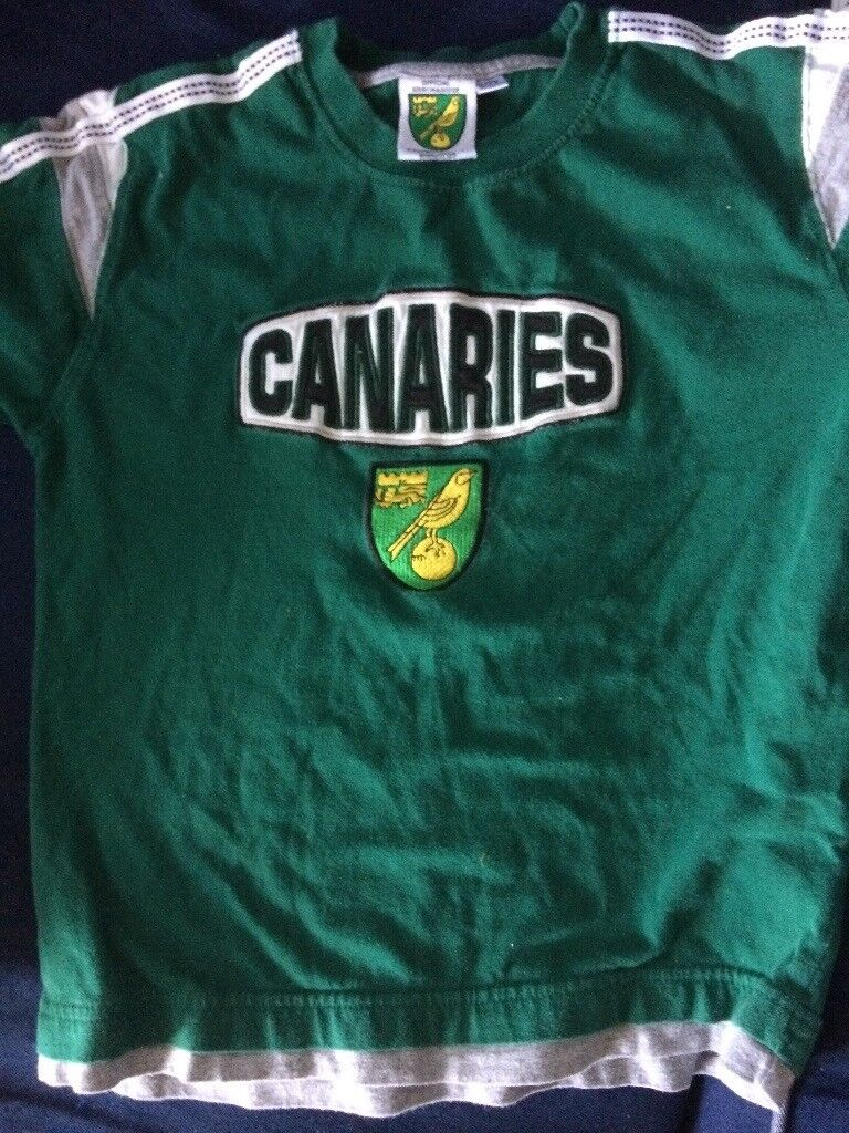 VINTAGE Norwich City Canaries football t-shirt