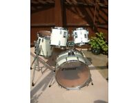 Sonor Sonorphonic Plus drum shell pack - Germany - '80s - White wrap- Beech heavy shells