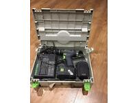 Festool T18+3 with 2x 2.6ah 18v battery in systainer