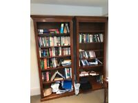Pair of Custom made solid mahogany bookcases with it adjustable shelves