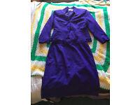 peplum purple suit