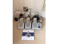 BT triple phone set