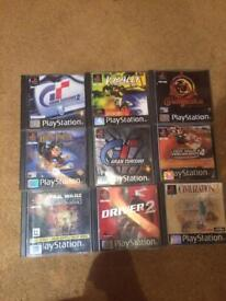 Various Sony Ps1 games PlayStation