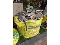 FREE FOR COLLECTION - LARGE BAG OF BROKEN PAVING SLABS