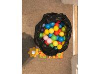 Bag of plastic balls (120) for baby ball pit/pool