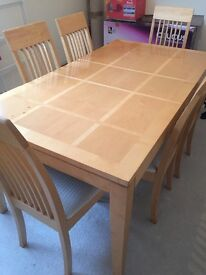 ** LARGE TABLE 6 CHAIRS £70
