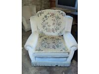 FREE - Two easy armchairs, floral design