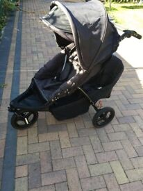 Baby weaver 3 wheel dual double buggy pushchair