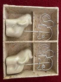 Elephant photo holder gift boxed NEW