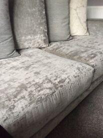 Grey corner sofa (fab cond)