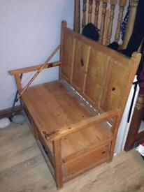 2 draw bench seat
