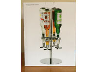 ROTARY 4 BOTTLE STAND OPTICS SPIRIT DRINK DISPENSER-NEW