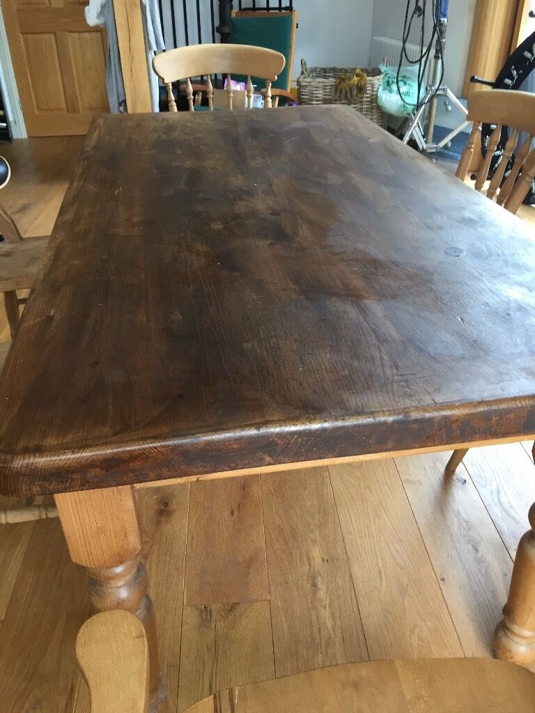 Pine Farmhouse Kitchen Table Farmhouse Kitchen Style Pine Table And 6 Chairs Ideal For Someone