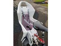 Childs bike seat for bike rack