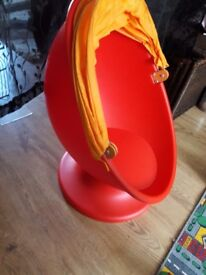 Kids ikea swivel chair. Good as new apart from a small tear in fabric (see pic)