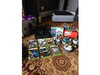 Xbox 360 boxed slim 250gb vgc , includes connect system, skylanders kit
