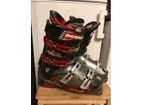 Ski boots +Skis