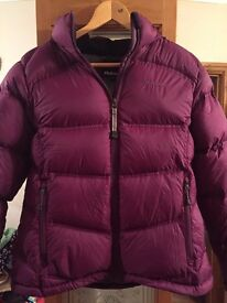 Ladies Purple Rohan Down Jacket Size Small