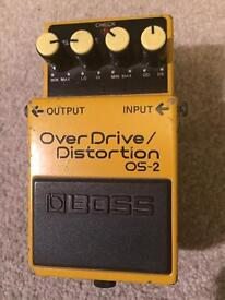 Boss OS-2 Overdrive / Distortion - guitar effects pedal