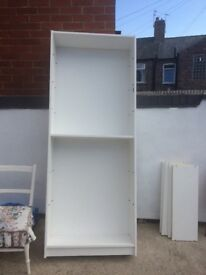 Ikea Billy tall white bookcase / bookshelves with 6 shelves
