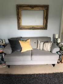Lovely grey two seater sofa VGC
