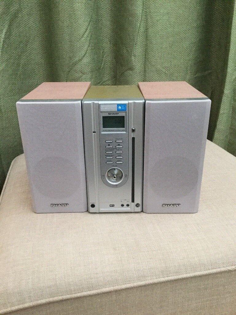 Sharp radio cd mp3 player