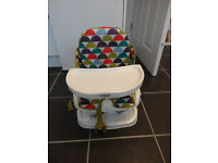 Mamas and Papas chair mounted travel booster seat with carry bag