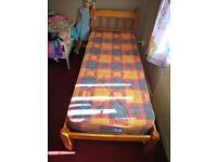Excellent condition single bed and mattress