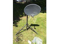 Satellite system for caravan
