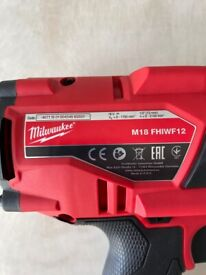 Milwaukee M18FHIWF12-0 FUEL Gen2 1/2 inch Impact Wrench & 9Ah Battery