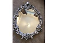Vintage plaster rococo baroque silver mirror