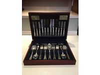 VINERS SILVER PLATED 44 PIECE CUTLERY SET